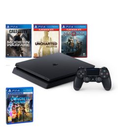 Kit-com-Console---Playstation-4---Slim-Bundle-Hits-V7---1TB-com-5-Jogos---Jogo-Concrete-Genie---Sony
