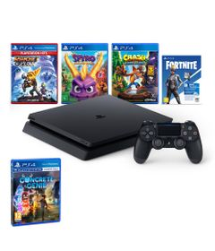 Kit-com-Console---Playstation-4---Slim-Bundle-Hits-V8---Family---1TB---Jogo-Concrete-Genie---Sony
