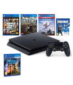 Kit-com-Console---Playstation-4---Slim-Bundle-Hits-V6---1TB-com-3-Jogos---Jogo-Concrete-Genie---Sony