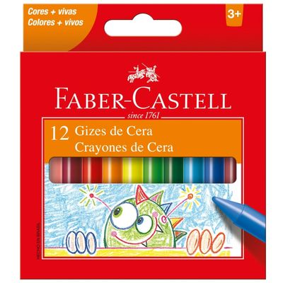 Giz de Cera 12 Cores Faber-Castell