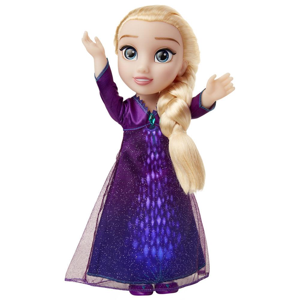 Boneca Com Luzes e Sons - 37 Cm - Disney - Frozen 2 - Elsa Musical - Mimo