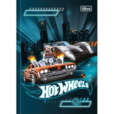 Caderno-de-Brochura---Capa-Dura---80-Folhas---Hot-Wheels---Carrinhos-na-Cidade---Tilibra