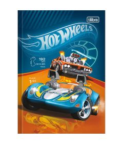 Caderno-de-Brochura---Capa-Dura---80-Folhas---Hot-Wheels---Carrinhos---Tilibra