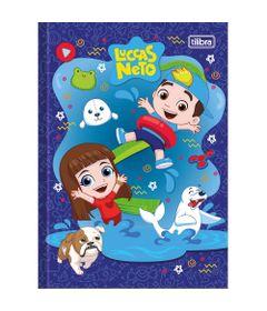 Caderno-de-Brochura---Capa-Dura---80-Folhas---Luccas-Neto---Azul---Tilibra