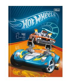 Caderno-Universitario-de-Brochura---Capa-Dura---80-Folhas---Hot-Wheels---Carrinhos---Tilibra