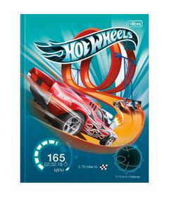 Caderno-Universitario-de-Brochura---Capa-Dura---80-Folhas---Hot-Wheels---Pista-com-Looping---Tilibra