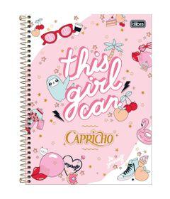 Caderno-Universitario-Espiralado---Capa-Dura---160-Folhas---Capricho---Rosa---Tilibra