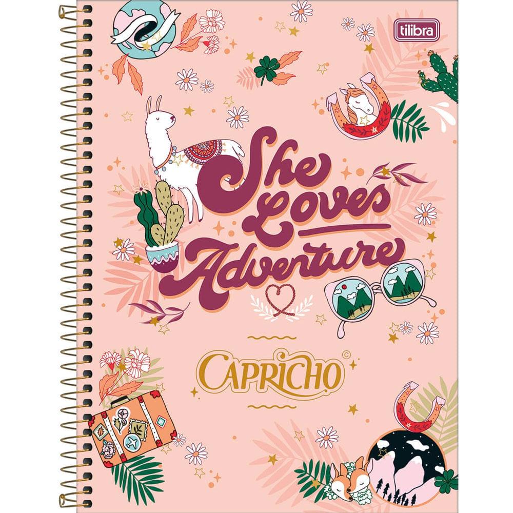 Oferta Caderno Universitário Espiralado - Capa Dura - 160 Folhas - Capricho - Salmão - Tilibra por R$ 38.9