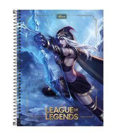 Caderno-Universitario-Espiralado---Capa-Dura---160-Folhas---League-Of-Legends---Ashe---Tilibra