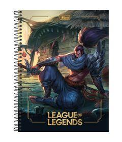 Caderno-Universitario-Espiralado---Capa-Dura---160-Folhas---League-Of-Legends---Yasuo---Tilibra
