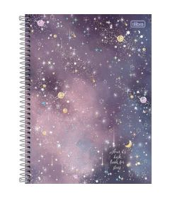 Caderno-Universitario-Espiralado---Capa-Dura---160-Folhas---When-It-s-Dark-Look-For-Stars---Tilibra