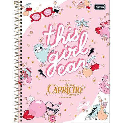 Caderno-Universitario-Espiralado---Capa-Dura---80-Folhas---Capricho---Rosa---Tilibra