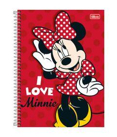 Caderno-Universitario-Espiralado---Capa-Dura---80-Folhas---Disney---Minnie-Mouse---I-Love---Tilibra