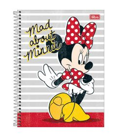 Caderno-Universitario-Espiralado---Capa-Dura---80-Folhas---Disney---Minnie-Mouse---Mad-About---Tilibra