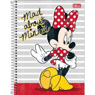 Caderno-Universitario-Espiralado---Capa-Dura---80-Folhas---Disney---Minnie-Mouse---Mad-About---Tilibra