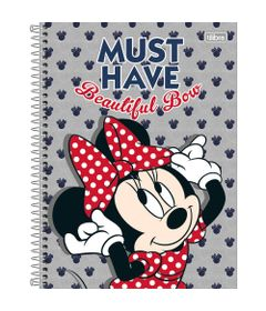 Caderno-Universitario-Espiralado---Capa-Dura---80-Folhas---Disney---Minnie-Mouse---Must-Have---Tilibra