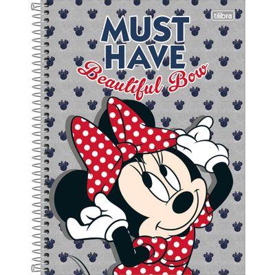 Caderno-Universitario-Espiralado---Capa-Dura---80-Folhas---Disney---Minnie-Mouse---Must-Have---Tilibra