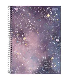 Caderno-Universitario-Espiralado---Capa-Dura---80-Folhas---When-It-s-Dark-Look-For-Stars---Tilibra