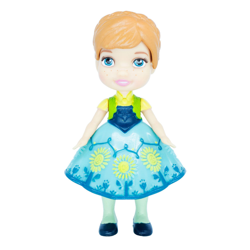 Mini Boneca Articulada - 8 Cm - Disney - Frozen - Anna Vestido Clássico - Mimo