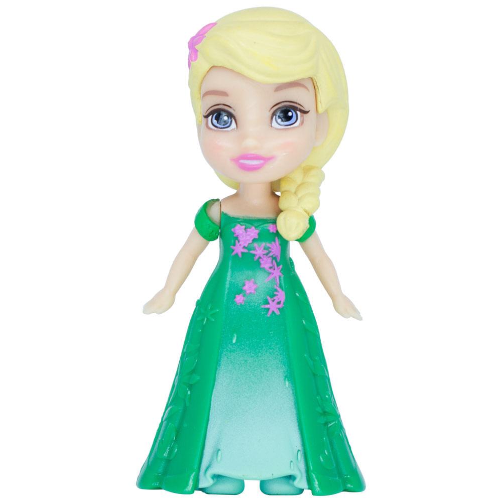Mini Boneca Articulada - 8 Cm - Disney - Frozen - Elsa Rainha - Mimo