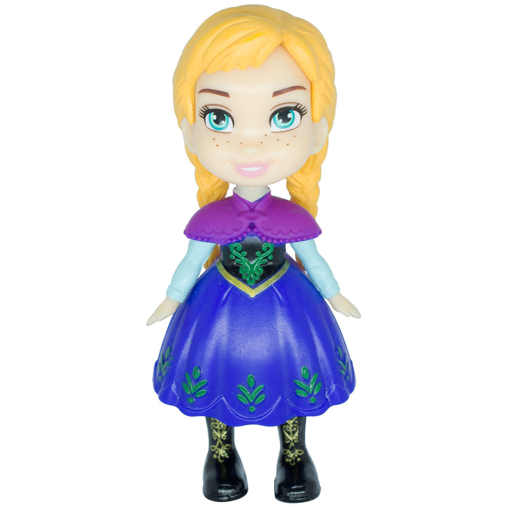 Mini Boneca Articulada - 8 Cm - Disney - Frozen - Anna Camponesa - Mimo
