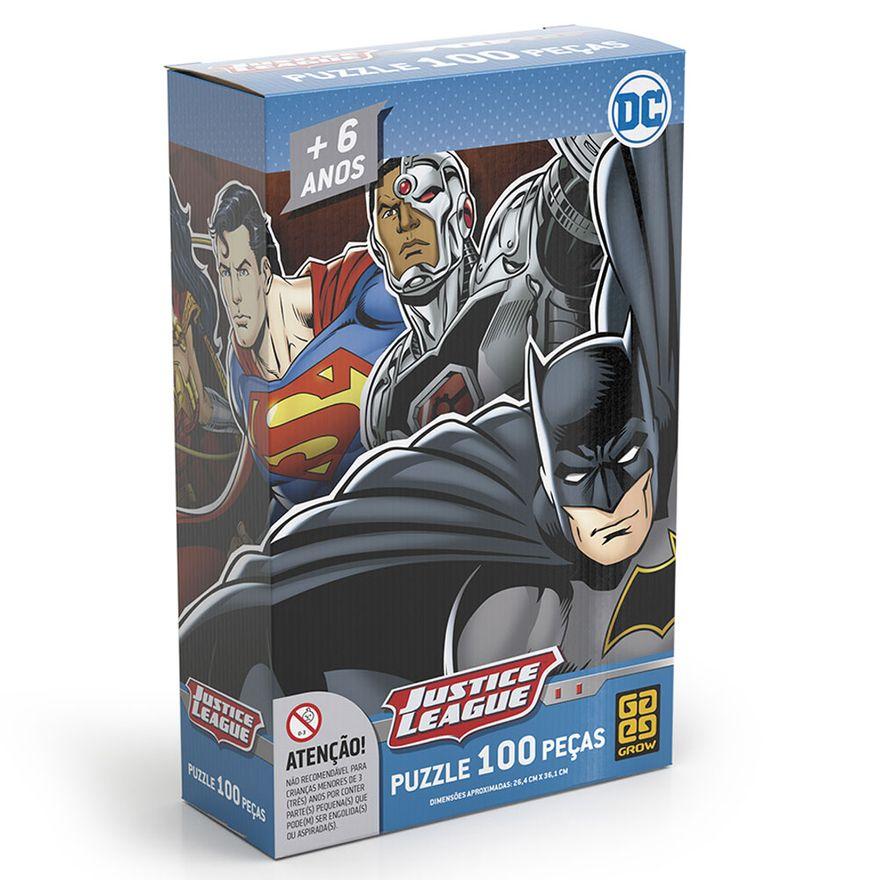 Quebra-Cabeca---DC-Comics---Liga-da-Justica---100-Pecas---Grow