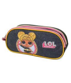 estojo-escolar-duplo-lol-surprise-queen-bee-preto-luxcel-EI34625-LO-0600UN_Frente