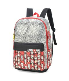 mochila-escolar-44-cm-la-casa-de-papel-notas-cinza-e-vermelho-luxcel-MJ48734-CP-0900UN_Frente