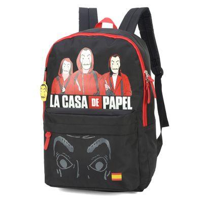 mochila-escolar-44-cm-la-casa-de-papel-mascaras-preto-e-vermelho-luxcel-MJ48734-CP-0400UN_Frente