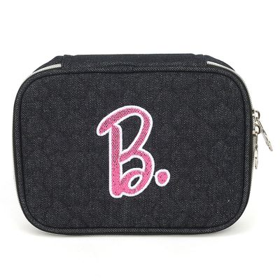 estojo-escolar-barbie-100-pens-preto-luxcel-ET40471-BB-0600UN_Frente