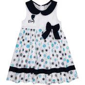 Vestido-Infantil---Tricoline---Frozen---Branco-e-Azul---Disney---4