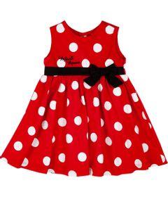 Vestido-Infantil---Tricoline---Poas---Minnie-Mouse---Disney---G