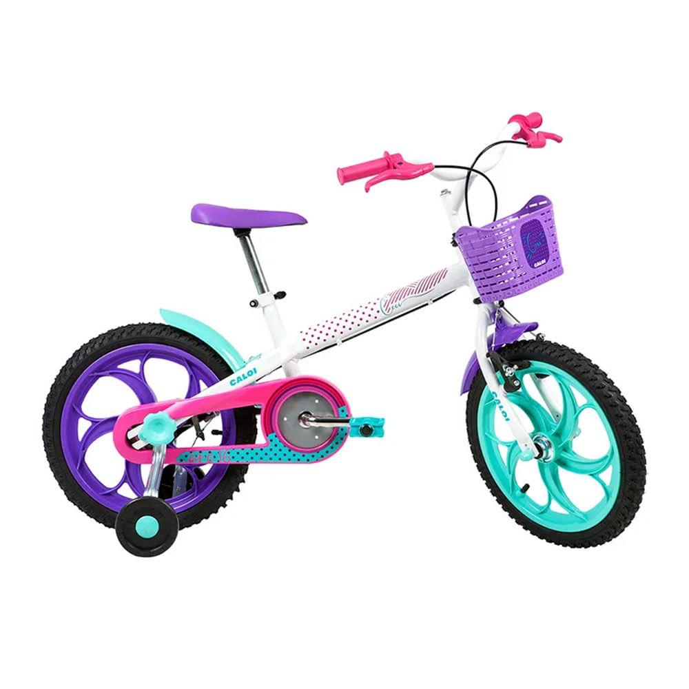 Bicicleta Infantil - Aro 16 - Cecizinha - Branco - Caloi