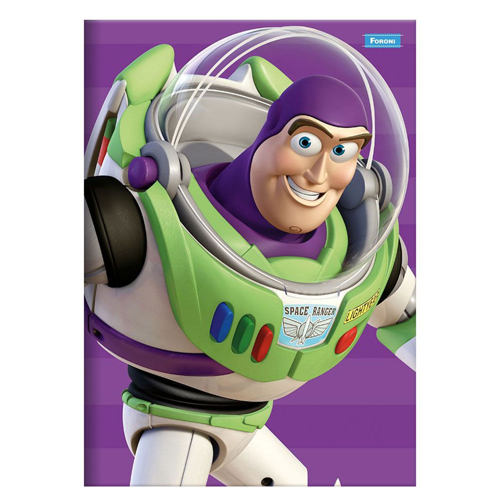 Caderno Brochura - 21x15 Cm - Capa Dura - Disney - Pixar - Toy Story - Buzz - 96 Folhas - Foroni