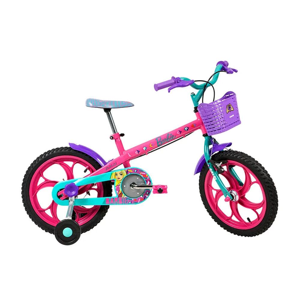 Bicicleta Aro 16 - Barbie - Rosa - Caloi