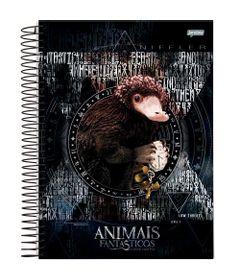 caderno-universitario-espiralado-capa-dura-10-materias-animais-fantasticos-200-folhas-jandaia-63608-20_Frente