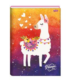 caderno-brochura-capa-dura-1-4-dream-96-folhas-jandaia-66649-77_frente