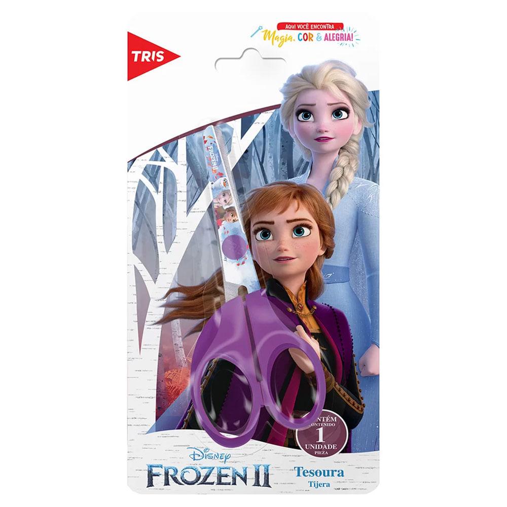 Tesoura Escolar - 13Cm - Lâmina Decorada - Disney - Frozen 2 - Lilás - Tris