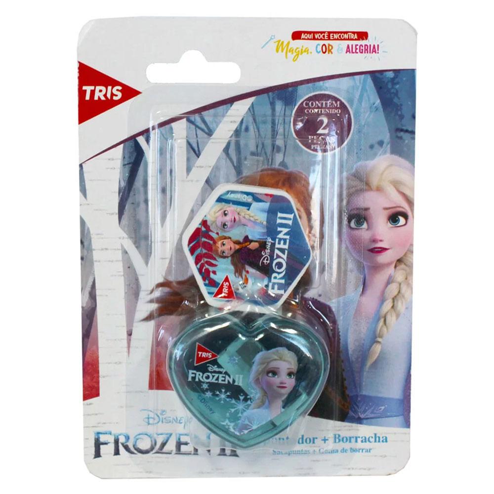 Conjunto de Apontador e Borracha - Disney - Frozen 2 - Tris