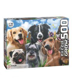 quebra-cabeca-500-pecas-selfie-pets-cachorros-grow-3742_frente