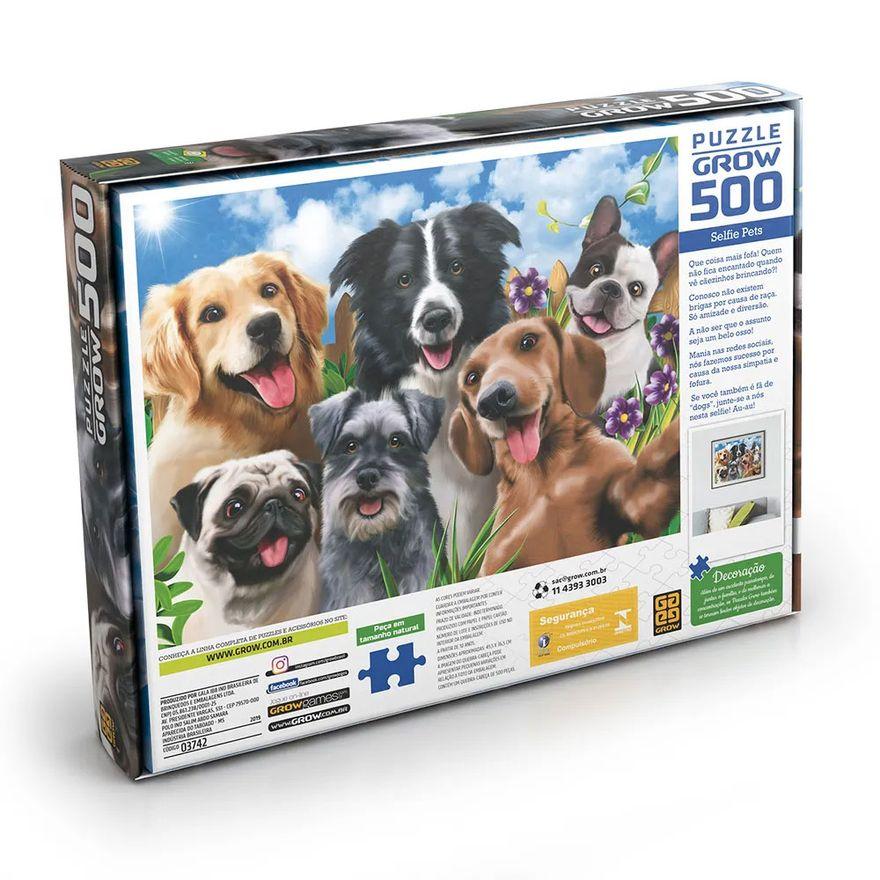 quebra-cabeca-500-pecas-selfie-pets-cachorros-grow-3742_detalhe1