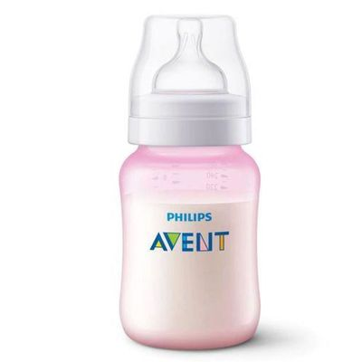 mamadeira-classica-rosa-anti-colica-260-ml-philips-avent-SCF814-17_frente