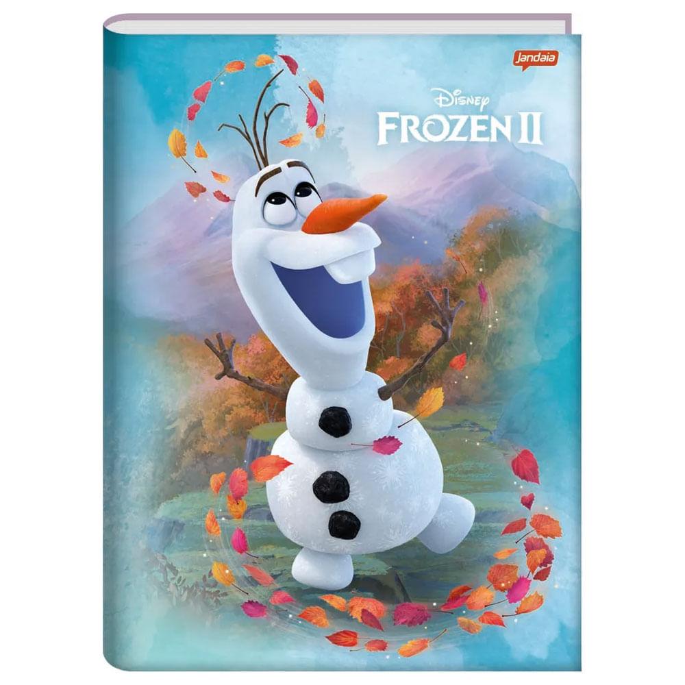 Caderno Universitário - Brochura - Frozen 2 - Olaf - 96 Folhas - Jandaia
