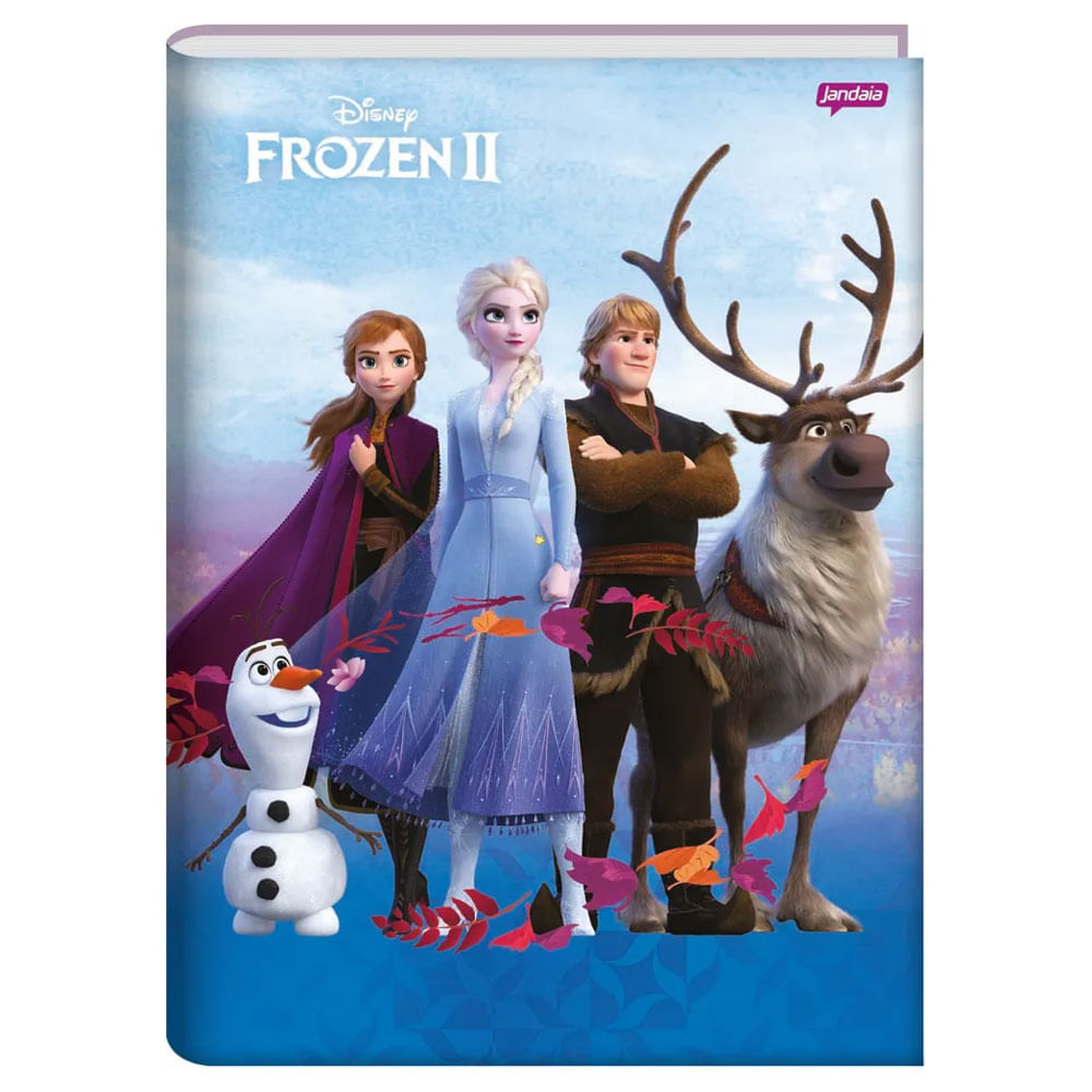 Caderno Universitário - Brochura - Frozen 2 - Turma Frozen - 96 Folhas - Jandaia