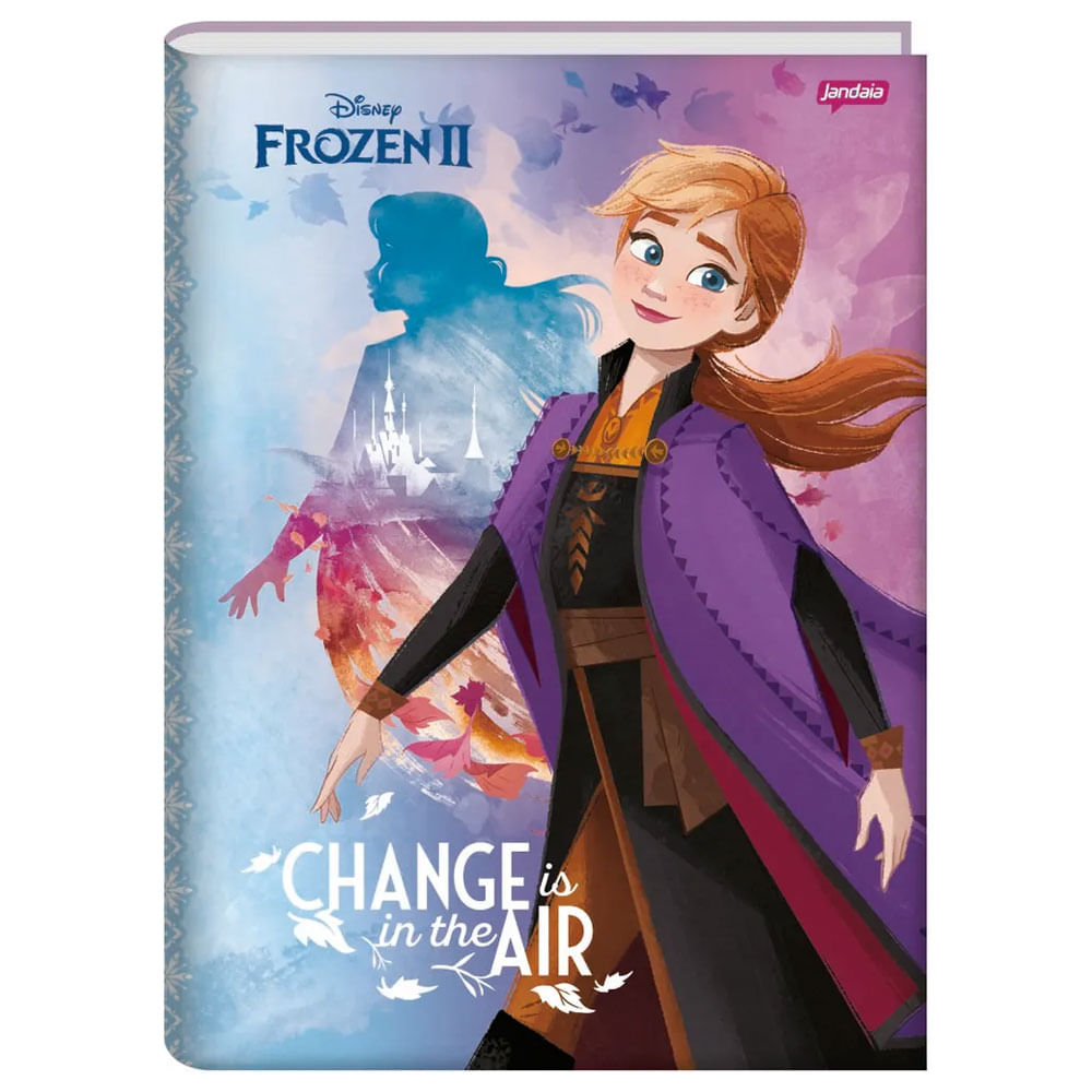 Caderno - 1/4 - Disney - Frozen 2 - Anna - Change Is In The Air - 96 Folhas - Jandaia