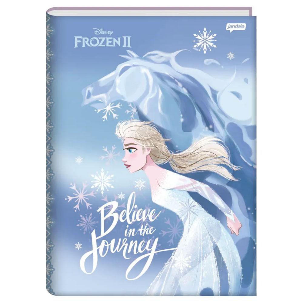 Caderno - 1/4 - Disney - Frozen 2 - Elsa - Believe In The Journey - 96 Folhas - Jandaia