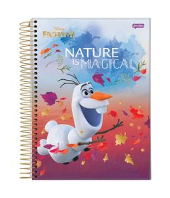 caderno-universitario-espiralado-10-materias-frozen-2-olaf-nature-is-magical-160-folhas-jandaia-66686-20_Frente