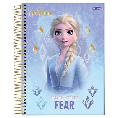 caderno-universitario-espiralado-10-materias-frozen-2-elsa-face-your-fear-160-folhas-jandaia-66686-20_Frente