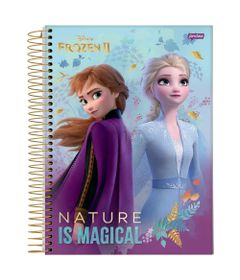 caderno-universitario-espiralado-10-materias-frozen-2-anna-e-elsa-nature-is-magical-160-folhas-jandaia-66686-20_Frente