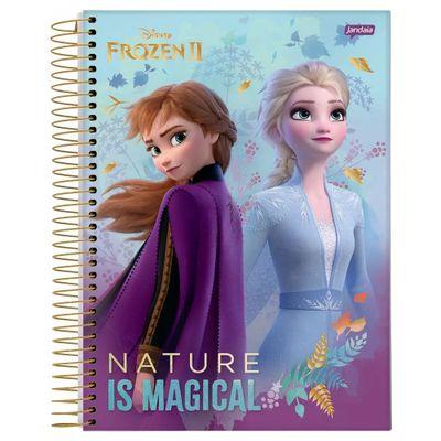 caderno-universitario-espiralado-capa-dura-15-materias-frozen-2-anna-e-elsa-nature-is-magical-300-folhas-jandaia-58592-20_Frente